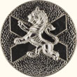 Lion Rampant on Saltire